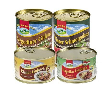 4er Set Gulasch Variationen, 1,6kg (6,43 EUR/kg)