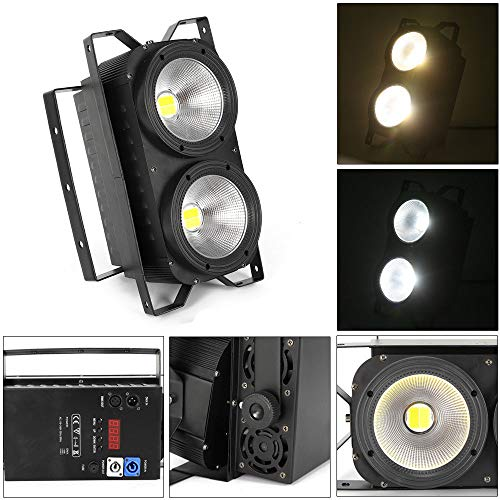 Audience Blinder 2 × 100W podiumverlichting 2 in 1 COB LED theater lamp IP20 horizontale knipperlamp zwart