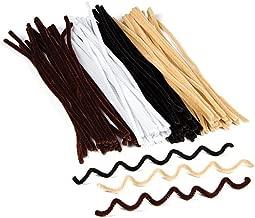 Baker Ross Limpiapipas de Tonos Naturales en Negro, Blanco, marrón Beis Que los niños Pueden Usar para Crear Modelos y Decorar Manualidades (Pack de 100).