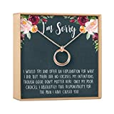 Apology Gift Necklace For Her: Gift to Say You're Sorry Best Friend, Girlfriend, 2 Linked Circles (rose-gold-plated-brass, NA)