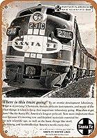 サンタフェ鉄道システムライン 金属板ブリキ看板警告サイン注意サイン表示パネル情報サイン金属安全サイン