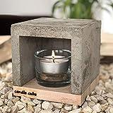 ECI Candle Cube - Pequeña vela de té, chimenea de mesa, estufa, calentador de velas