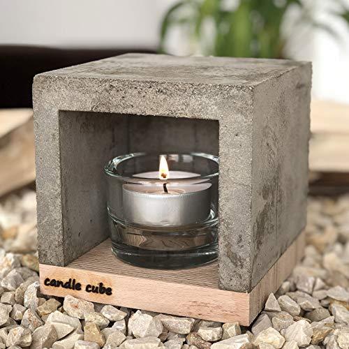ECI Candle Cube© Kleiner Teelicht Tisch-Kamin Ofen Stövchen Kerzen-Heizung Teelichtofen Heizwürfel