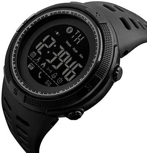 No brand Moda Uomo impertinente Orologio da Polso Sportivo Digitale Bluetooth Impermeabile Impermeabile
