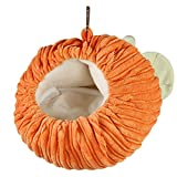 Balacoo Hamster Cage Hammock Warm Winter Pumpkin Shape Flannel Guinea Pig Hanging Cage Hedgehog Nest Soft Bed for Halloween Small Pet Animals (Orange)