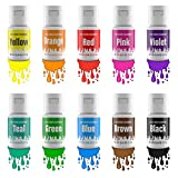 Jelife Lebensmittel Farben Set Lebensmittelfarbe Gel 10 x 12.5g eLebensmittelfarben Hochkonzentriert...