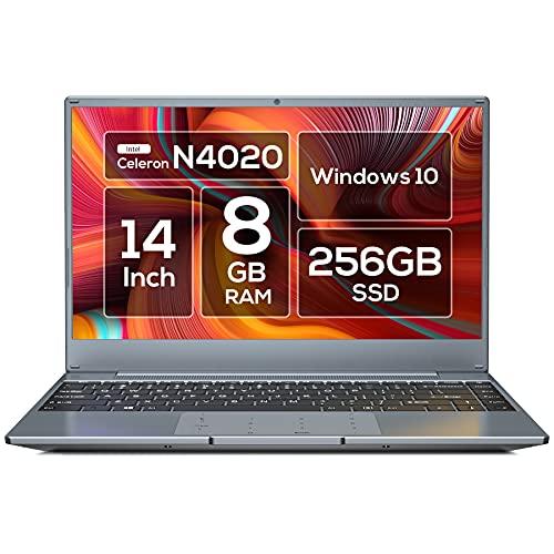 VASTKING ノートパソコン Windows10/14.1インチ パソコン/WPS Office 搭載タイプ/K100/8GB RAM/256GB SSD/Celeron N4020/最大2.8 GHz/FHD 1920 x 1080 ディスプレイ/コンパクトデザイン/5G WiF/テンキー パッド/Type C/Windows 10/128GB SD カード対応/パソコン ノート office付き