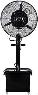 Ventilador de Pedestal de pie Ventilador/nebulizador para Uso Profesional/Ventiladores de Pedestal/Ventilador Industrial de pie /3 Velocidades/deposito Agua 41 litros/Negro