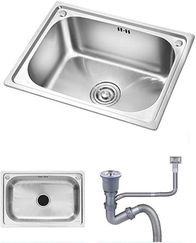 Kitchen Sink. Edelstahlspüle Küchenspüle Einzelspüle Einschlielich Wasserhahn 20 x 16 Zoll 8 Zoll tief