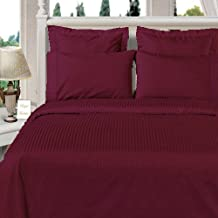 1200 Thread Count Three (3) Piece California King Size Stripe Duvet Cover Set, 100% Egyptian Cotton, Premium Hotel Quality California King Red COMIN16JU018979