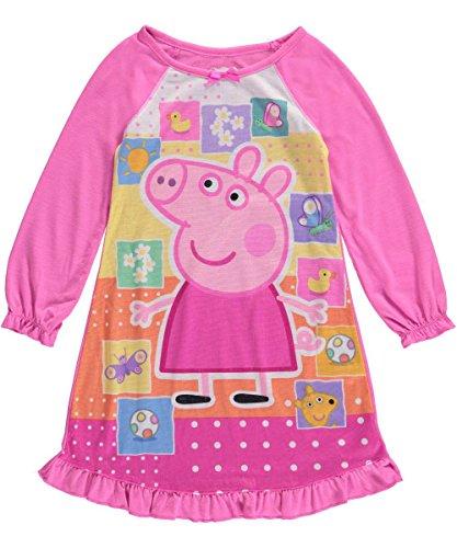 Komar Kids Girls' Peppa Pig Favorite Things Toddler Nightgown 2T (2T) Pink