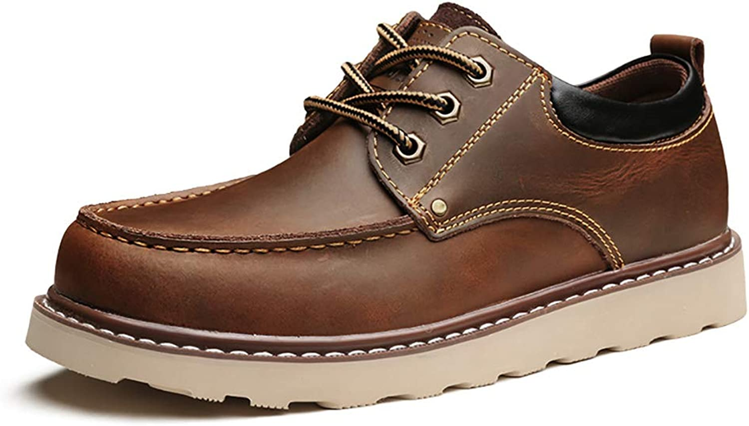 RJNSPx Leather shoes Men's big shoes, winter casual shoes, England low cut leather boots Martin boots mens dress shoes (Size   5.5 UK)