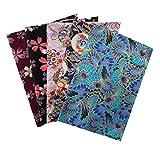 5pcs / Set DIY 20x25cm Tela de algodón de patrón Mixto, Materiales de Tela de Estilo japonés para Coser artesanías de Retazos de Acolchado