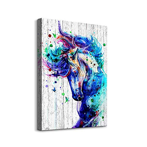 Canvas Wall Art for bathroom hallways Wall Decor for Bedroom Office Abstract wall art watercolor painting Horse Animal wall pictures Canvas Art Prints Home decor Ready to Hang Size 12x16