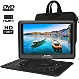 """PUMPKIN 18.6"""" Portable DVD Player with 16"""" HD Screen,5000mAh Rechargeable Battery Support HDMI"""