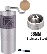1Zpresso Q2 Manual Coffee Grinder Mini Slim Travel Sized Fits in the plunger of AeroPress, Assembly Stainless Steel Conical Burr, Numerical Internal Adjustable Setting Coarse for Filter, Capacity 20g