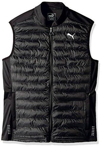 PUMA Men's Padded Vest, Black, Medium