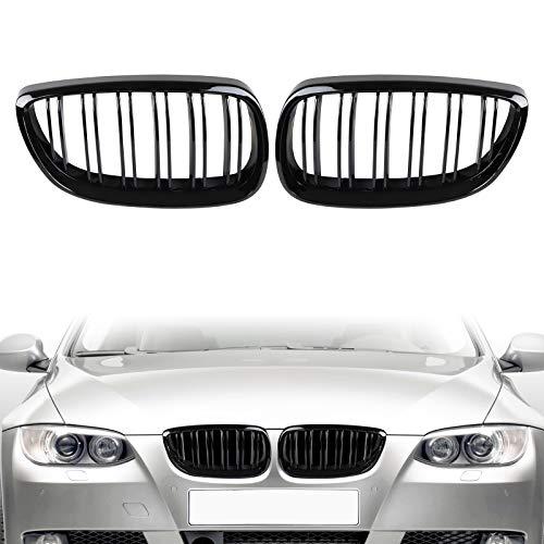 AUFER Griglia per griglia anteriore nera lucida per BMW Serie 3 M3 E92 E93 328i 335i 2 porte 2006-2010