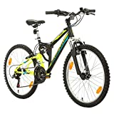 Bikesport PARALLAX Dual Suspension Mountain bike 24 Inch wheels, Shimano 18 sp.