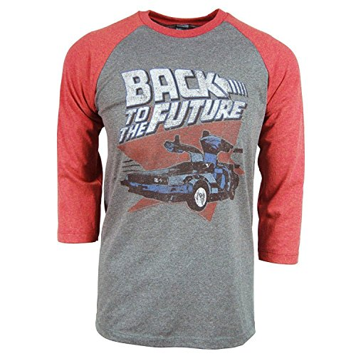 Back To The Future Soft Raglan Baseball Shirt, S to XXL