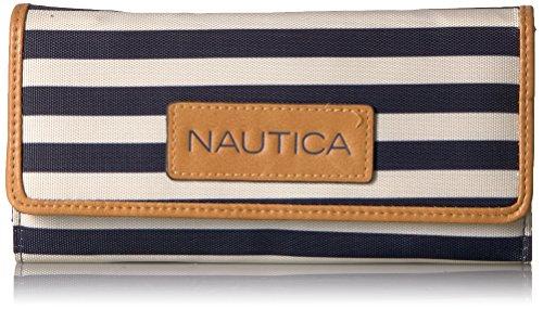 Nautica Carteira feminina Perfect Carry-All Money Manager com bloqueio de RFID, Índigo/Osso/Areia, Tamanho Único