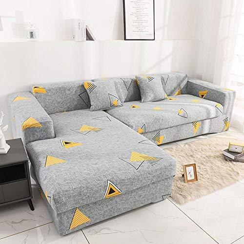 Stretch Fabric Sectional Sofa Slipcovers,Stretch sofa cover, living room sofa cover, washable soft thick jacquard fabric-2 persons (145-185cm)_G9