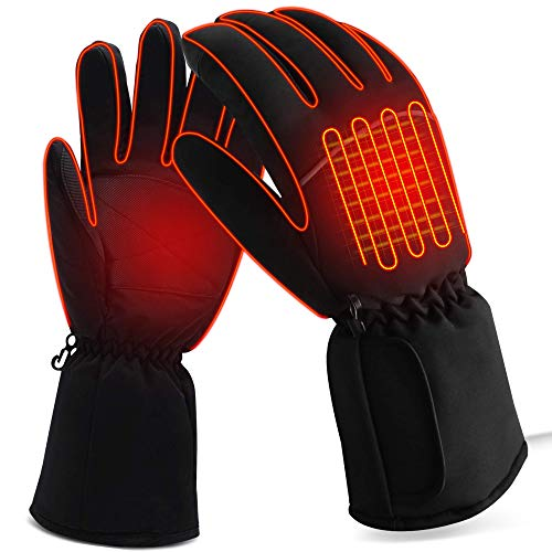 Cold Weather Heated Gloves Kit as Family Gift,3 Heating Adjustable Electric Thermal Gloves Men...