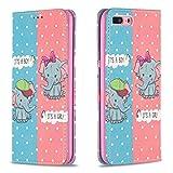 Miagon Brieftasche Hülle für iPhone 7 Plus/8 Plus,Kreativ Gemalt Handytasche Case PU Leder Geldbörse mit Kartenfach Wallet Cover Klapphülle,Elefant