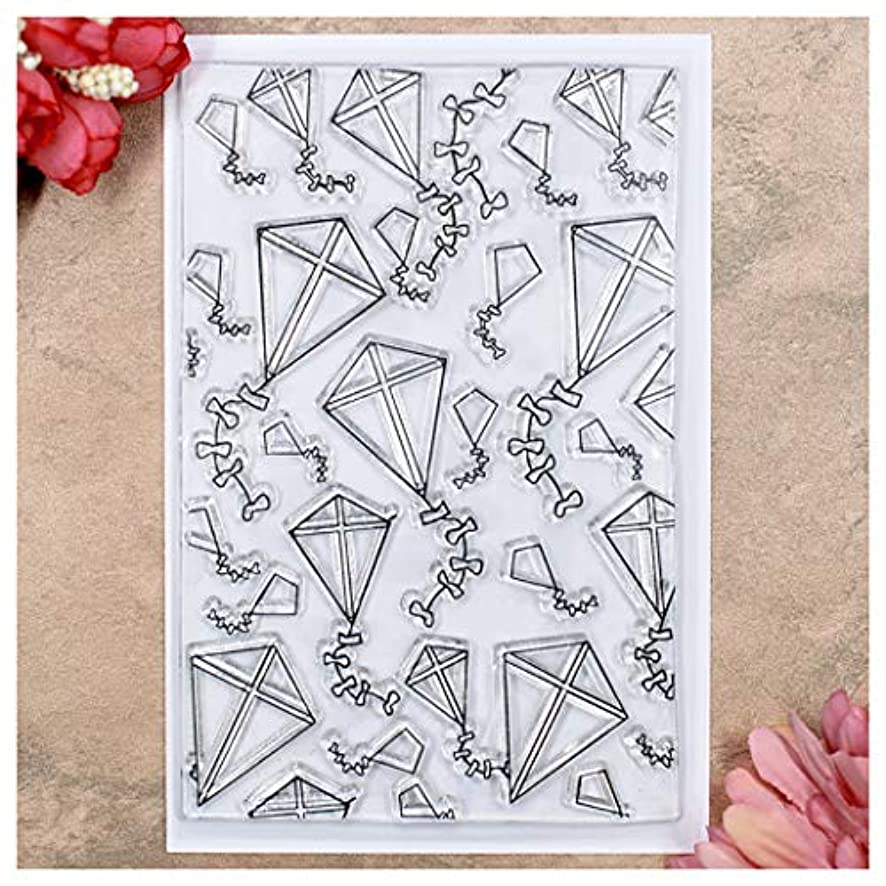 Kwan Crafts Kite Background Clear Stamps for Card Making Decoration and DIY Scrapbooking