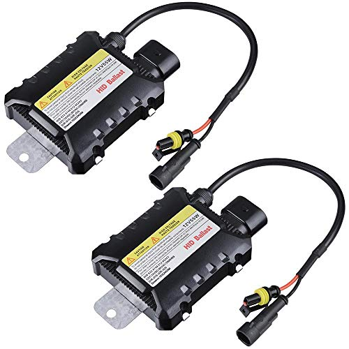 small Yescom 12V 55W HID Replacement Ballast Universal H1 H3 H7 H8 9005 9006 2 packs for xenon lamps