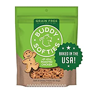 Buddy Biscuits Grain Free Soft & Chewy Healthy Dog Treats with Roasted Chicken – 5 oz.