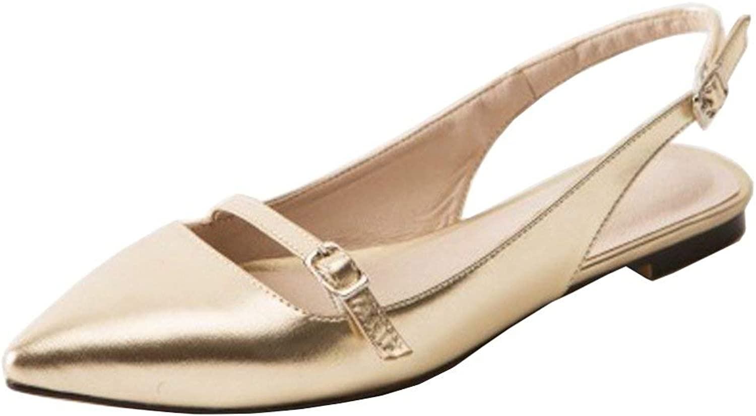 Unm Women's Fashion Flat Slingback Pointed Toe Summer shoes
