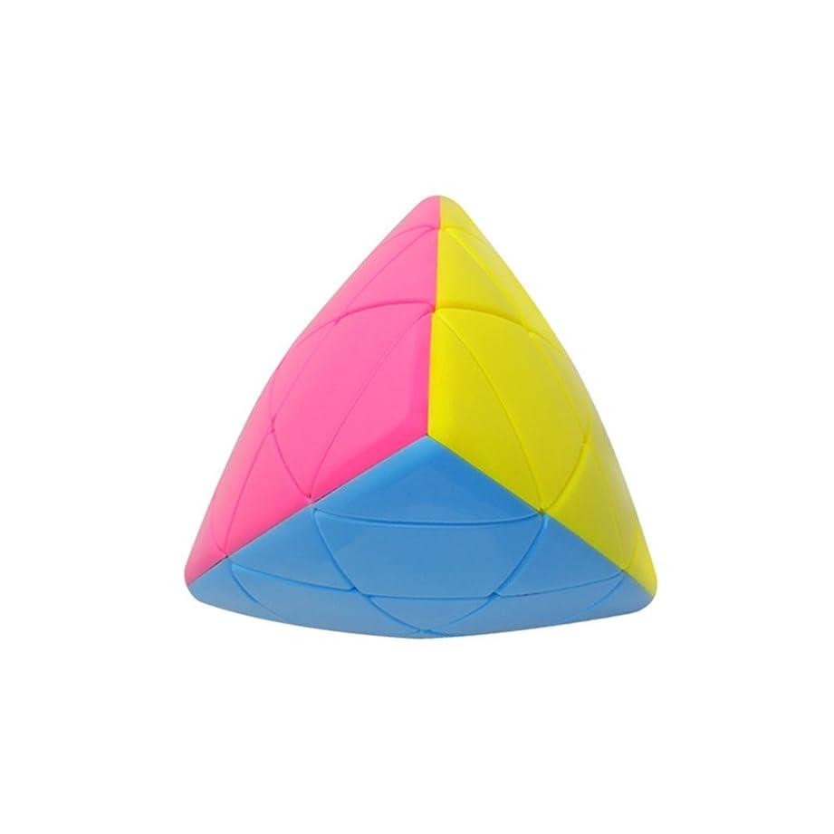 パターン感情の水曜日Qiyunポケットキューブ2?x 2?Skewbポケットキューブ2層4面体パズルキューブBrain Teaserマジックキューブ