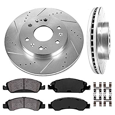 Callahan CDS02150 FRONT 330mm D/S 6 Lug [2] Rotors + Ceramic Brake Pads + Hardware [ fit Chevrolet Cadillac GMC ]