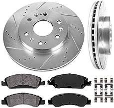 Callahan CDS02150 FRONT 330mm D/S 6 Lug [2] Rotors + Ceramic Brake Pads + Hardware [ fit Chevrolet Cadillac GMC ]