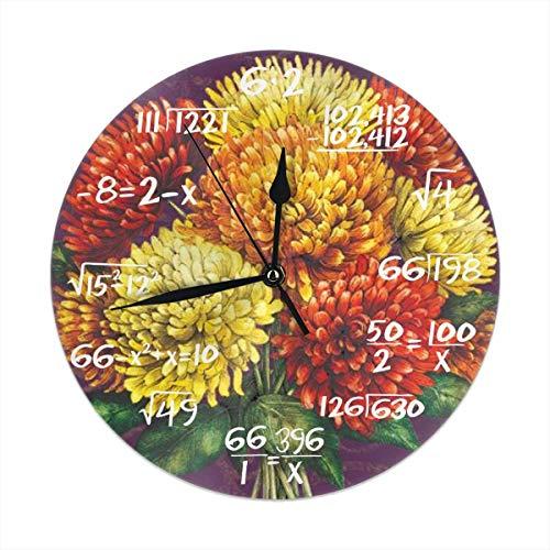 Wanduhr Autumn Blessings Dekorative Wanduhr Silent Non Ticking - 9,8-Zoll-Runde Leicht zu lesende Dekorative für zu Hause/Büro/Schule Uhr