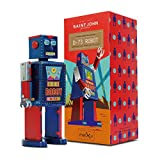 Sinihan Vintage Robot Toy, Tin Wind Up Toys, 80s Retro Collectible Robots, Metal Windup Walking Toys, Robotic Party Favors for Kids, D-73 Robot