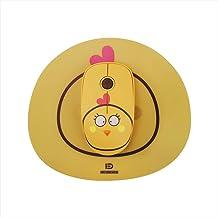 Rato, Walory E680 2.4G Mouse Sem Fio Super Fofo Estilo Cartoon ABS Silent Clicks Ergonômico Mute Mouse Com Mouse Mat Baixo...