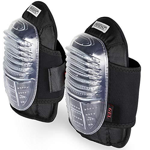 Deuba Gel Knieschoner Unigröße elastisch stufenlos verstellbar dickflüssig Knieschützer Knieschutz Kniepolster