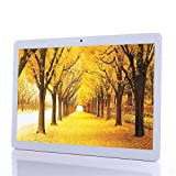 10 Pouces Tablette Tactile Android 7.0 - (Octa-Core, 4 Go de RAM, 64 Go de stockage, 1280x800 IPS Screen, Dual Cameras, WiFi, GPS, Bluetooth,Phablette Avec Carte Sim) (Gold)