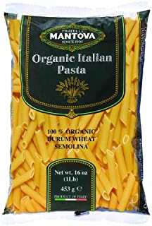 Mantova Organic Penne Rigate Pasta 1 Pound (12 Pack) - Pasta Imported From Italy With Organic Durum Semolina