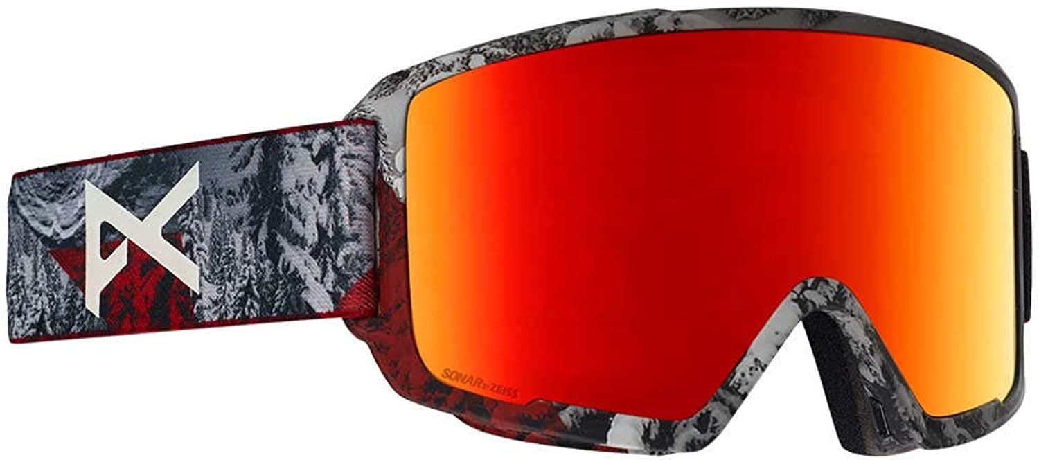 Anon M3 MFI Facemask Goggles Redplanet  Sonar Red + Spare Lens