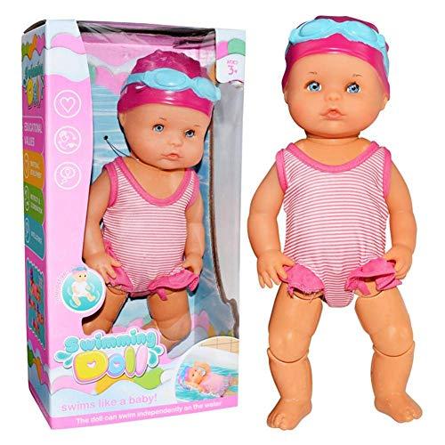 Easy-topbuy Schwimmpuppe Kunst Süße Puppen Puppe Zum Baden, Mini Dekorationen Spielen Elektrische Schwimmpuppe Für Hauptdekorationen Urlaub Geburtstagsgeschenke 25x25x10CM