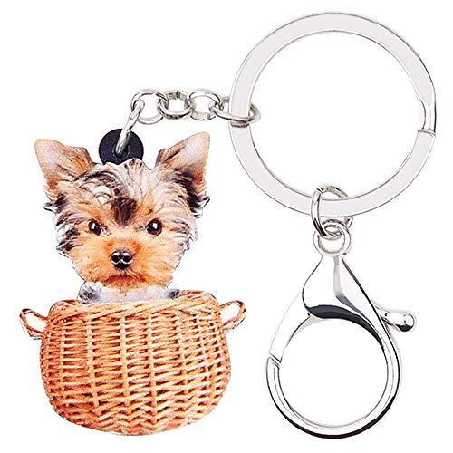 Sleutelhangers Voor Damesacryl Mand Honden Sleutelhangers Sleutelhangers Ringen Schattige Dieren Mode-Sieraden Bedels