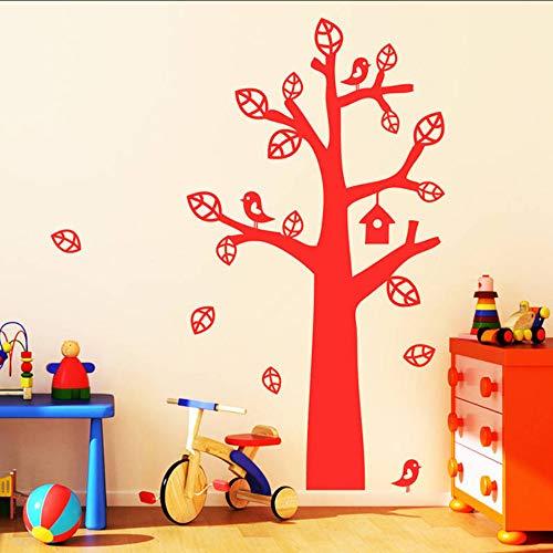 jukunlun Baum Mit Vogelhaus Wandaufkleber Abnehmbare Vinyl Wandtattoos Baum Für Wohnzimmer Aufkleber Wallperfect Qualität Aufkleber 56X152 Cm