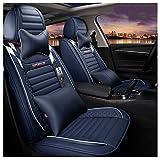 ZMCOV Compatible Funda para Asientos De Coche Impermeable, Resistente Al Desgaste Cuero Protector De Asiento Nissan Rouge X-Trail LIVINA TIIDA Mazda 3 2003-2013 Mazda 2 CX-5, Blue,Luxury