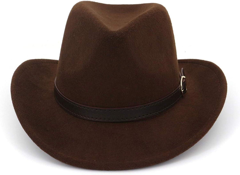Women's Ladies' Belt Buckle Fedora Hat (color   Coffee, Size   Adjustable)