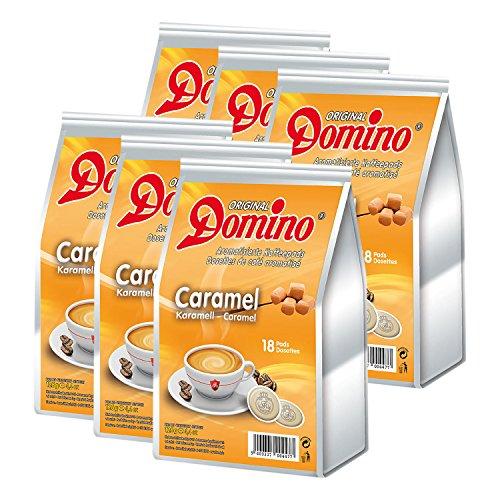 6x DOMINO Kaffeepads Karamell (á 18 Pads)