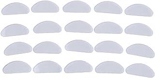 LQHZ Coussinets de Nez 10Pair Anti-Slips de Nez de Nez en Silicone pour Lunettes Lunettes de Lunettes Stick sur Le Nez Tam...