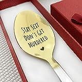 Cuchara personalizada – Cuchara de regalo única – cucharadita – Nutella o cuchara de helado – regalo grabado (mantenerse sexy y no ser asesinado)